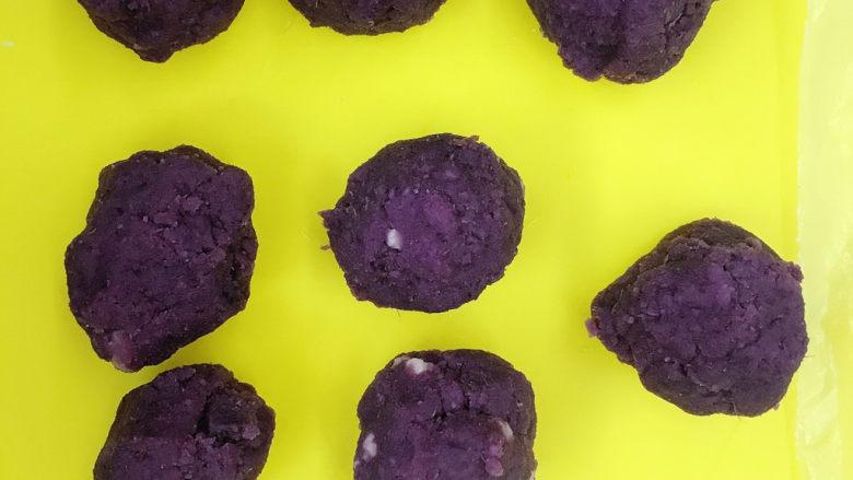 紫薯奶酪包,分成8个20g