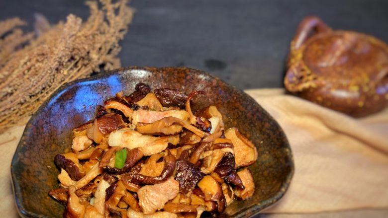 香菇炒肉片,完成