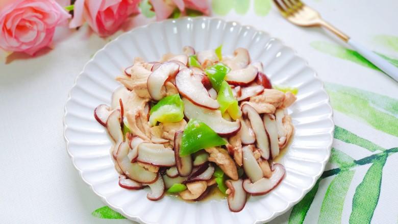 香菇炒肉片,营养丰富味道好