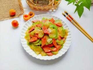 西葫芦炒火腿