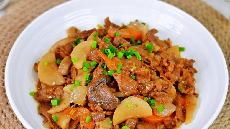 香菇炒肉片,营养丰富,牛肉嫩滑,好吃不胖。