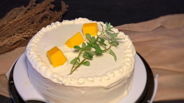 榴莲蛋糕,简单抹个面
