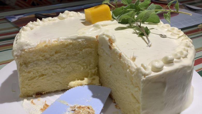 榴莲蛋糕,完成