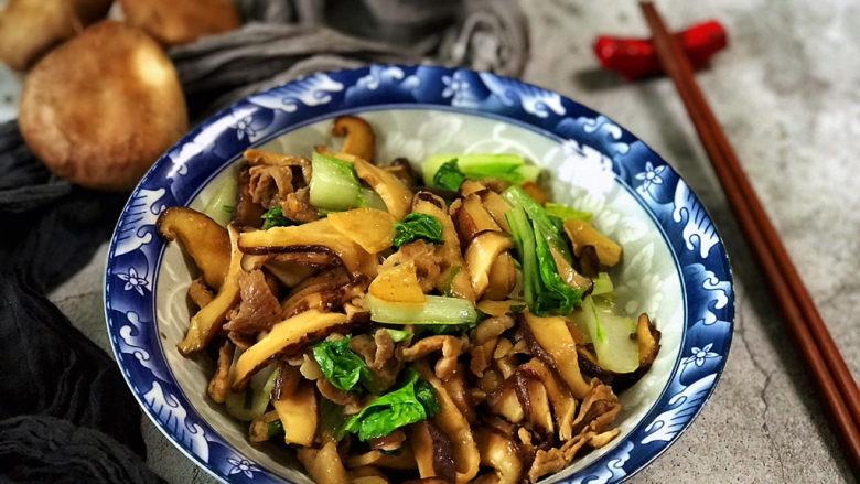 香菇炒肉片,超级鲜的香菇炒肉片上桌!