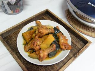 鸡翅根炖土豆南瓜