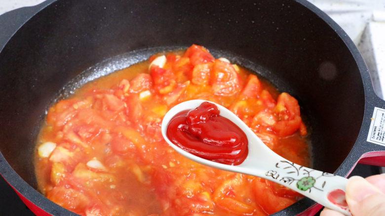 番茄烧豆腐,加入<a style='color:red;display:inline-block;' href='/shicai/ 699'>番茄酱</a>