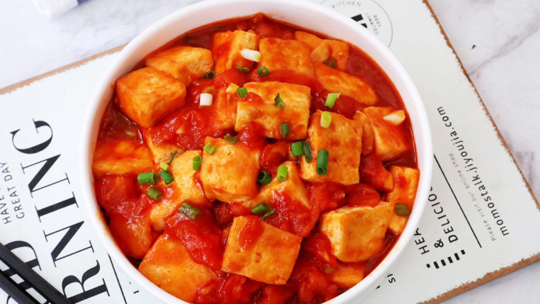 番茄烧豆腐,图二