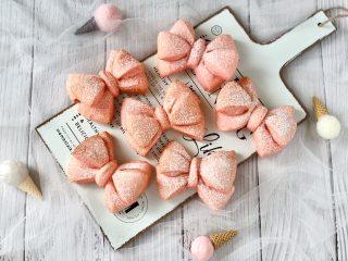 软萌可爱的蝴蝶结面包,不用模具就能做