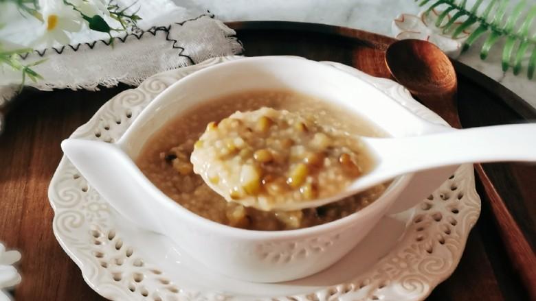 绿豆小米粥,营养美味