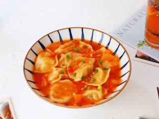番茄浓汤饺子,图二
