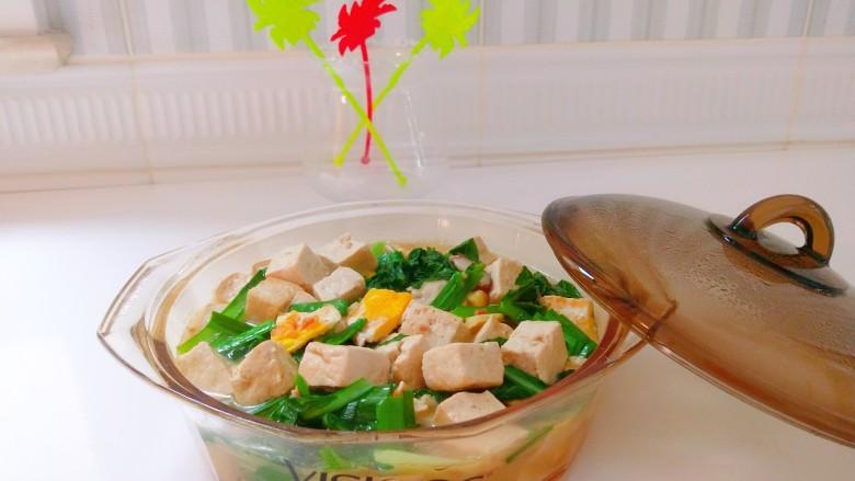 香菇炖豆腐,成品图