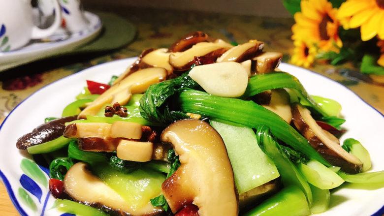香菇炒青菜,成品