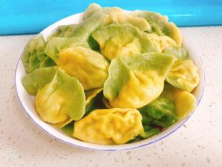 彩色芹菜猪肉饺子