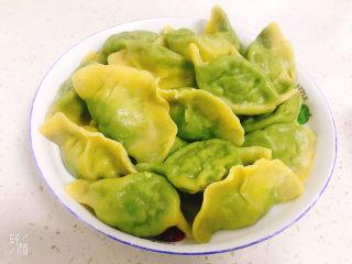 彩色芹菜猪肉饺子,来一盆绿心的也挺漂亮!