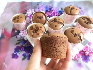 巧克力纸杯蛋糕🧁,撕掉纸杯,蛋糕弹性十足