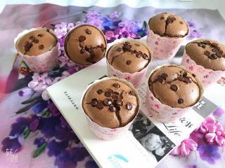 巧克力纸杯蛋糕🧁,成品图1