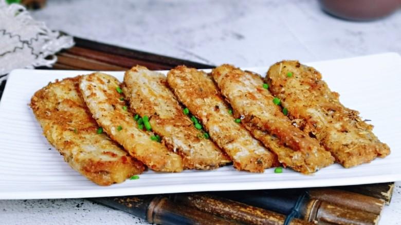 椒盐带鱼,简单快手,好吃极了。