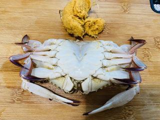 红烧梭子蟹,挑选的是母蟹,蟹籽可以煎鸡蛋吃