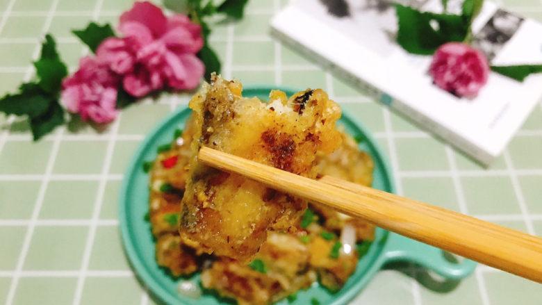 椒盐带鱼,外酥里嫩,咬一口嘎嘣脆