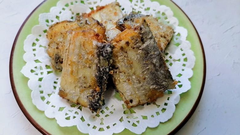 椒盐带鱼,装盘