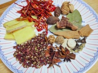 麻辣鸭头,准备材料,喜欢吃辣的可以多放垃圾,喜欢吃麻就多放花椒,量根据自己的喜好调整