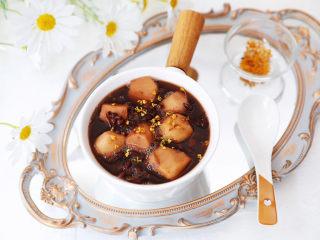 桂花红豆芋头甜汤
