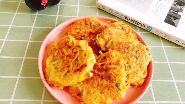 黄金土豆丝饼,成品图!