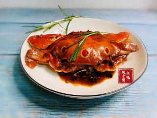 红烧梭子蟹
