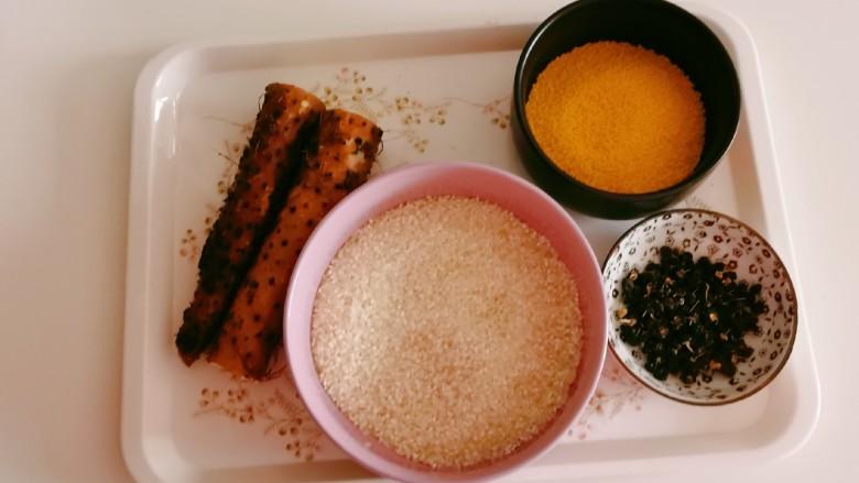 山药枸杞粥,食材准备好