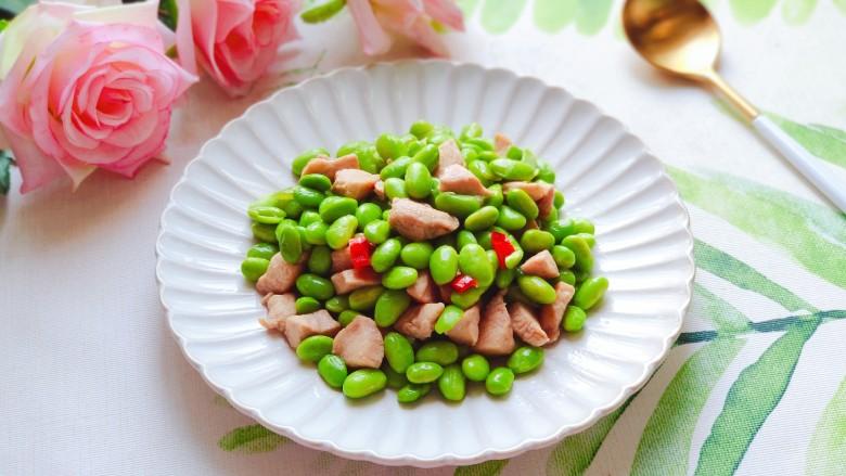 毛豆炒鸡丁,健康又美味