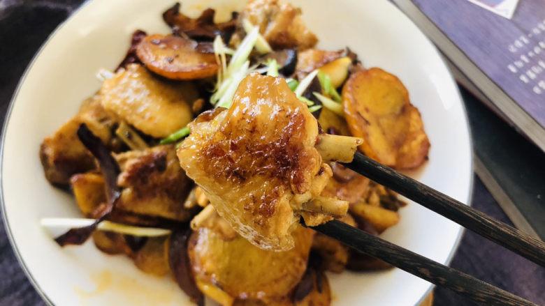 干锅麻辣鸡翅,成品。