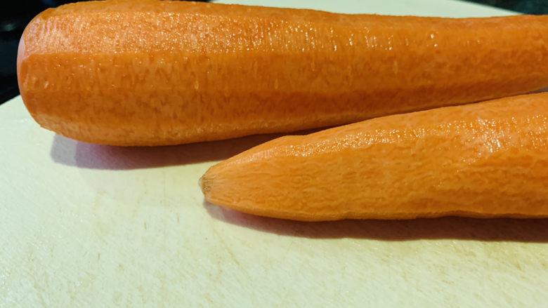 胡萝卜馒头,胡萝卜削皮