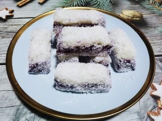 糯米紫薯糕