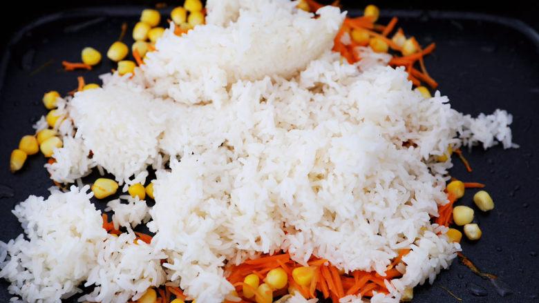 午餐肉饭团,加入米饭