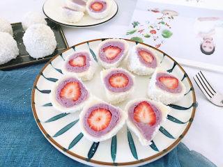 紫薯草莓椰蓉球