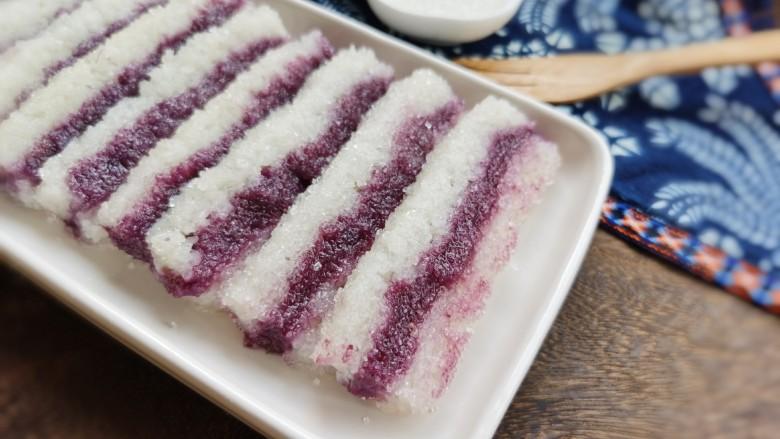 糯米紫薯糕,喜欢的试试吧!
