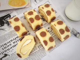 波点奶油蛋糕卷