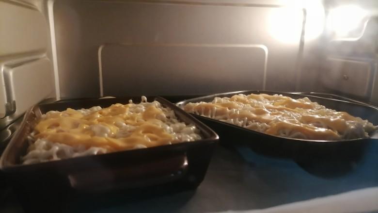 芝士焗土豆泥,上下火200℃烤20分钟