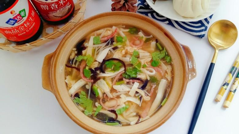 金针菇豆腐汤,太美味了