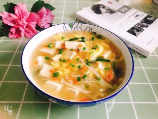 金针菇豆腐汤,成品图!
