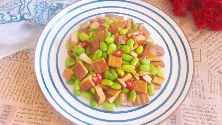 毛豆炒香干