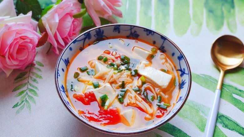 金针菇豆腐汤,好吃看得见