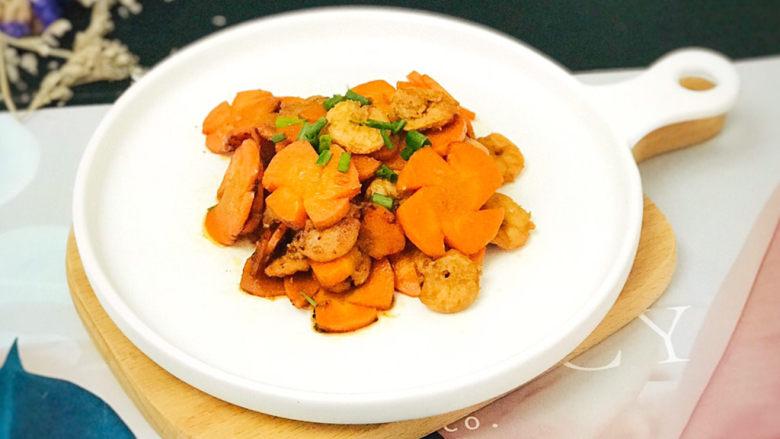 胡萝卜炒虾仁,漂亮营养又美味