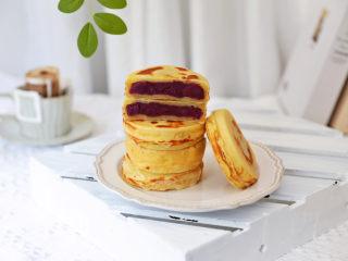 紫薯车轮饼