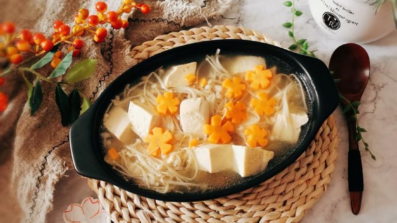 金针菇豆腐汤,出锅啦!