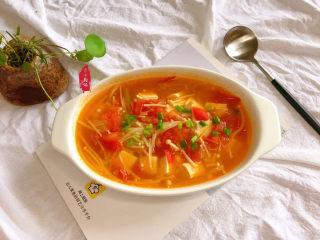 金针菇豆腐汤