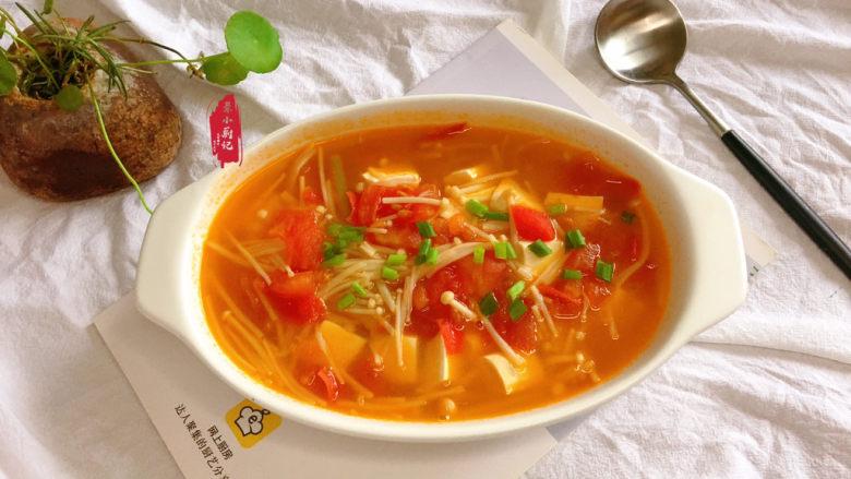 金针菇豆腐汤,成品~好吃却不胖~~~