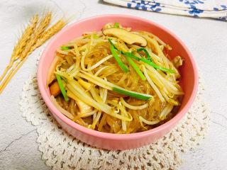豆芽炒粉条 家常菜