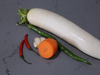 自制泡菜,材料准备好