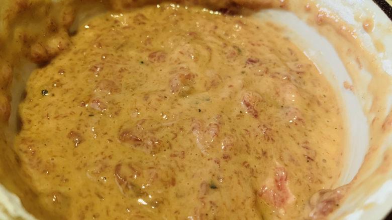 莲藕饼,搅拌均匀,加淀粉